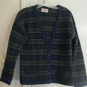 Vintage Pendleton Boiled Wool Cardigan - Petite/L